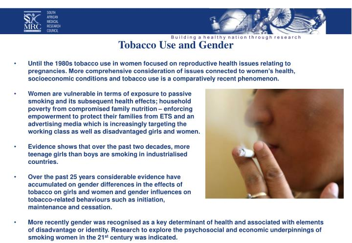 Tobacco Use and Gender