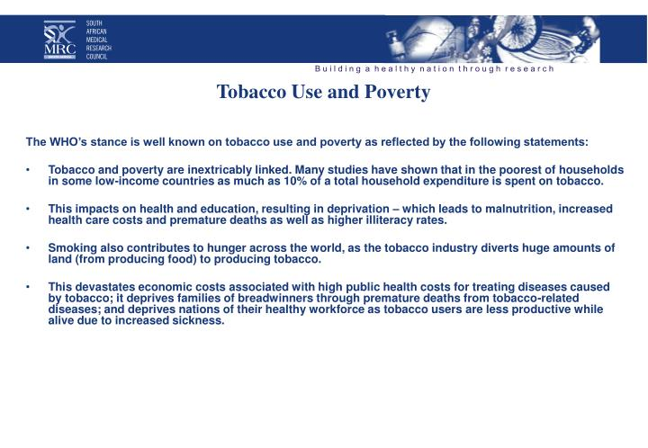 Tobacco Use and Poverty