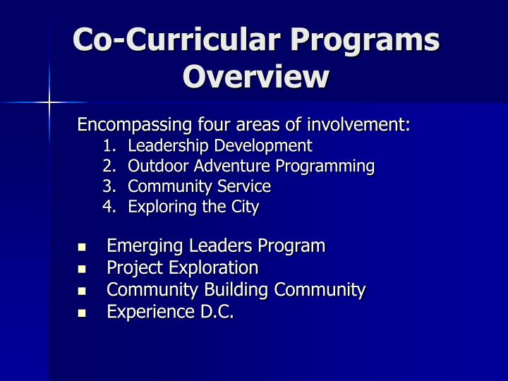 Co-Curricular Programs Overview