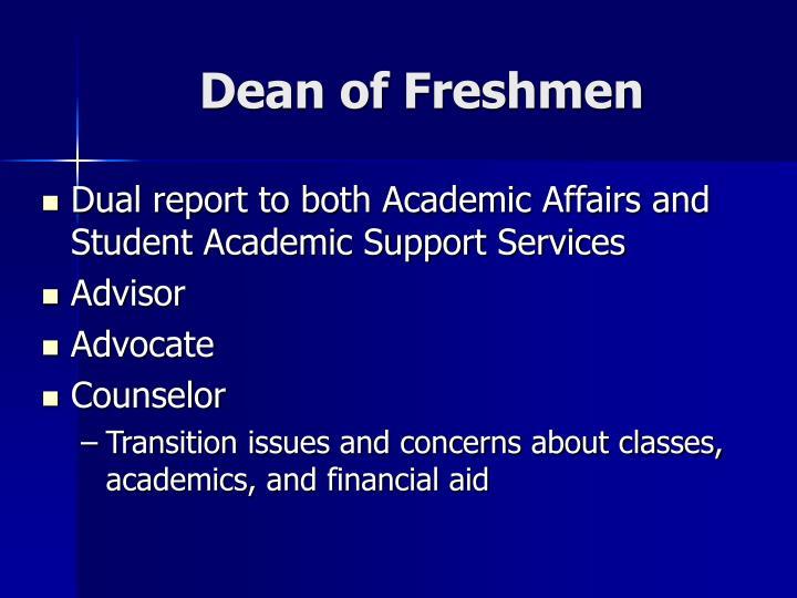 Dean of Freshmen