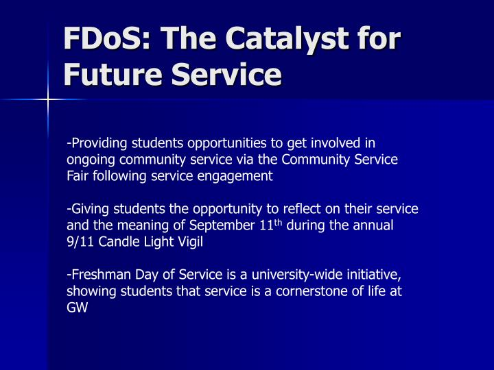 FDoS: The Catalyst for Future Service
