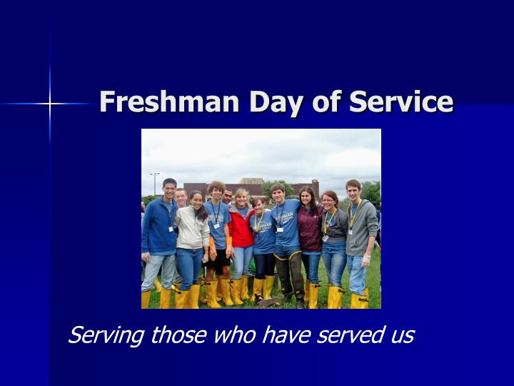 Freshman Day of Service