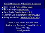 general discussion questions answers