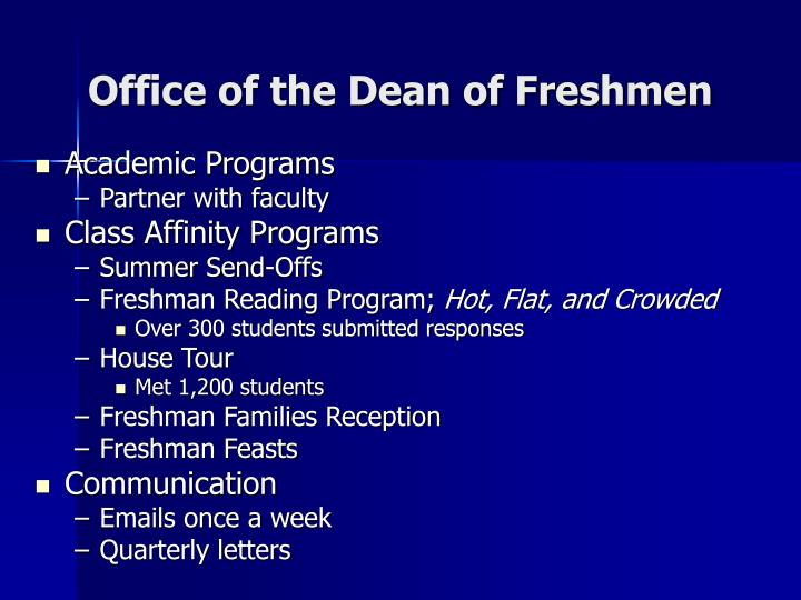 Office of the Dean of Freshmen