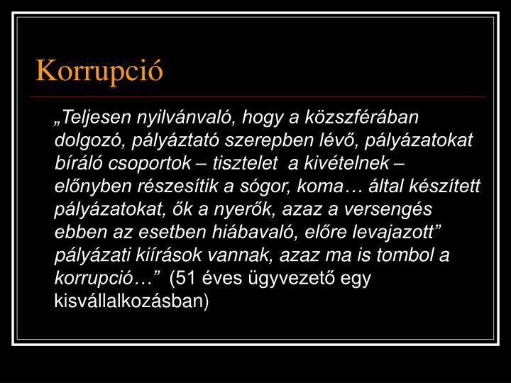 Korrupció
