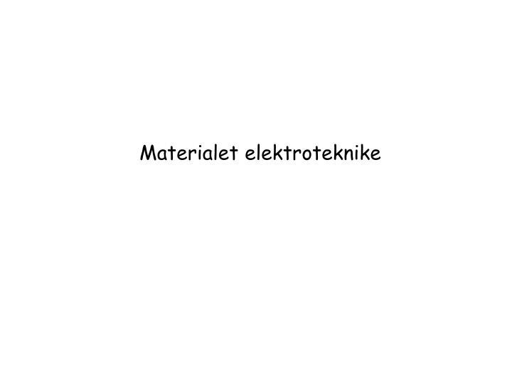 Materialet elektroteknike