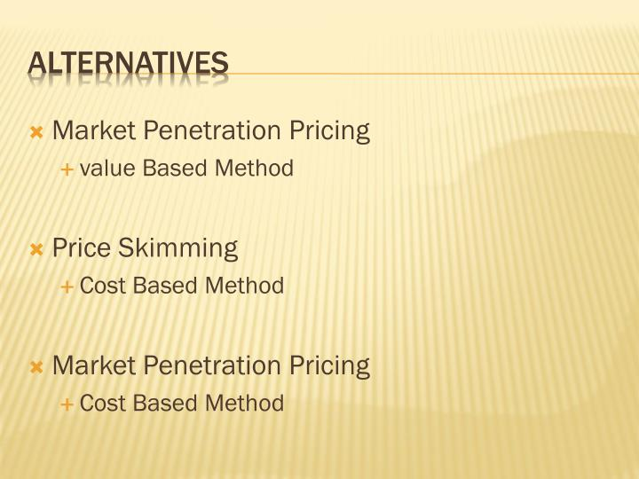 Market Penetration Pricing