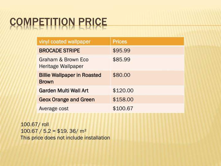 Competition price