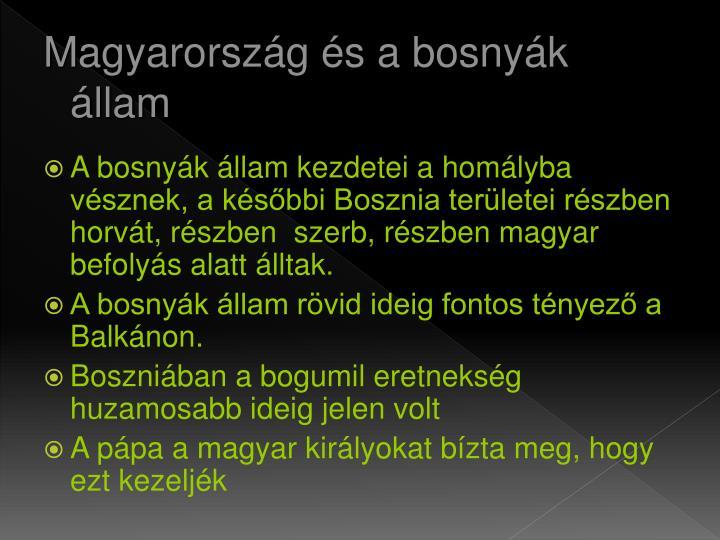 Magyarország és a bosnyák állam