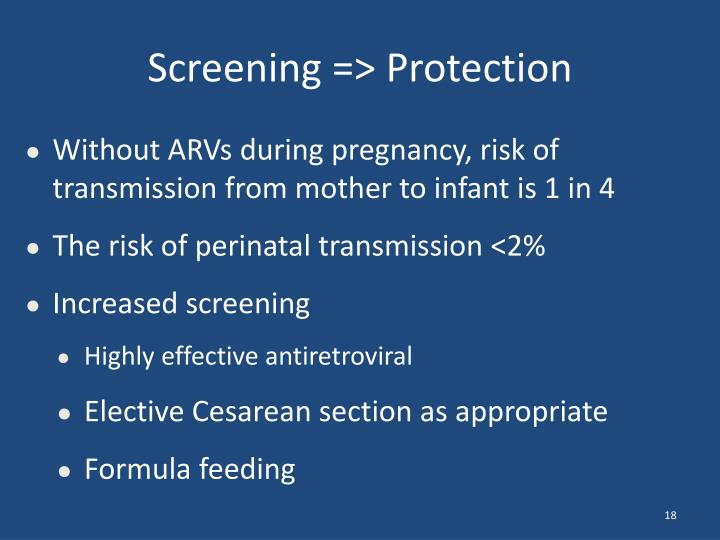 Screening => Protection