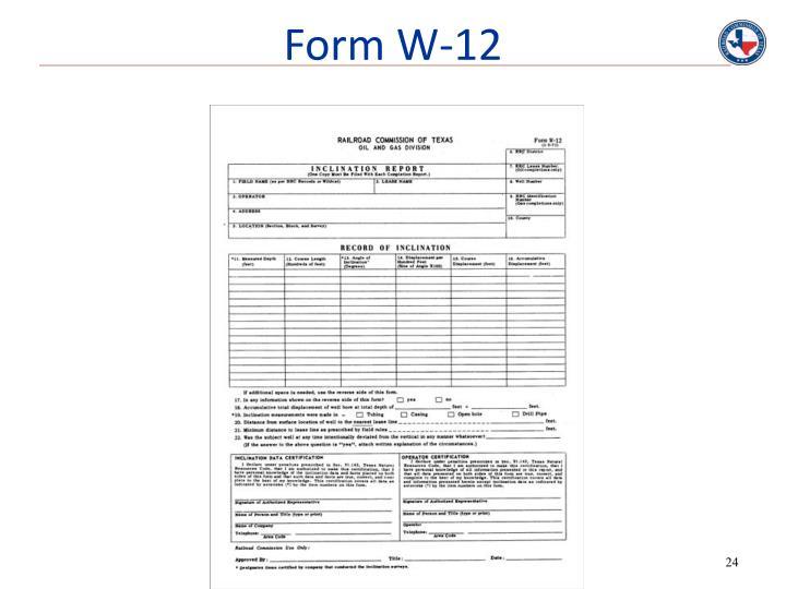 Form W-12