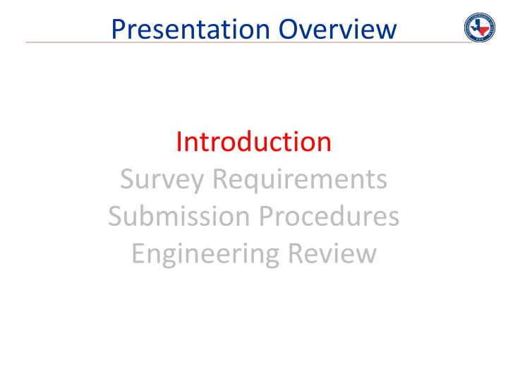 Presentation overview1
