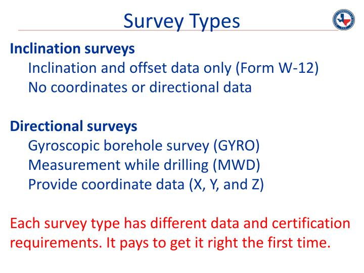 Survey Types