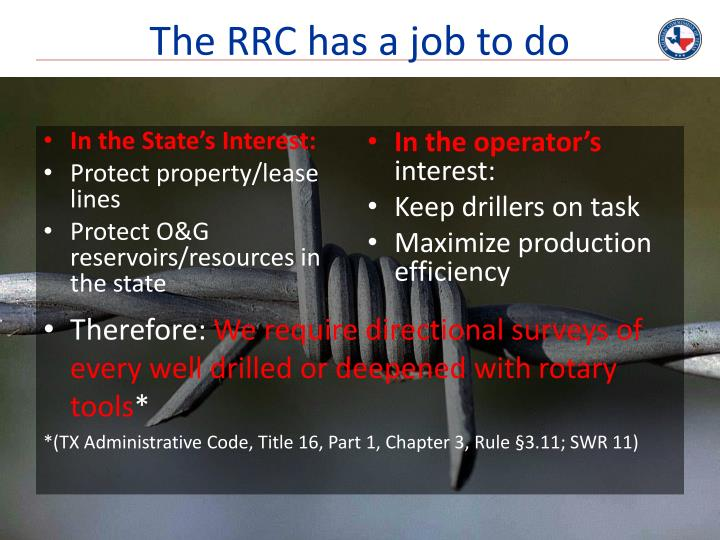 The RRC has a job to do