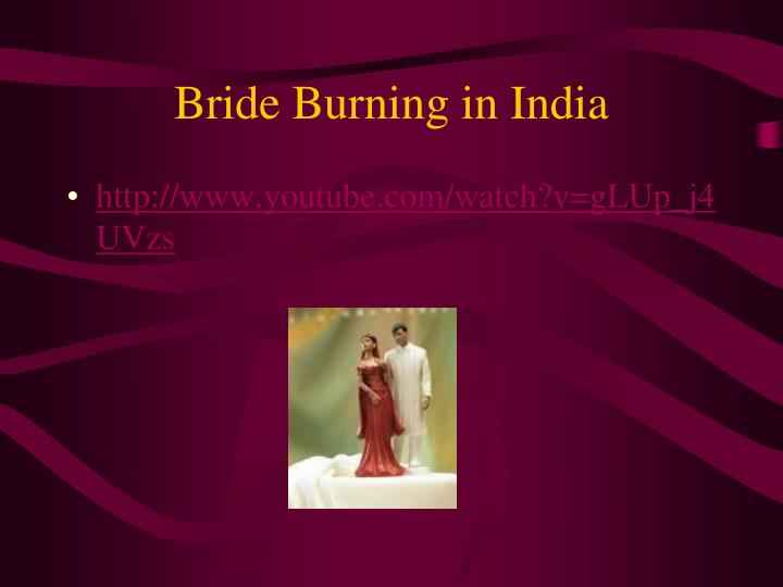 Bride Burning in India