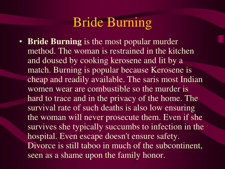 Bride burning: Wikis