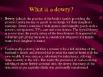 what is a dowry