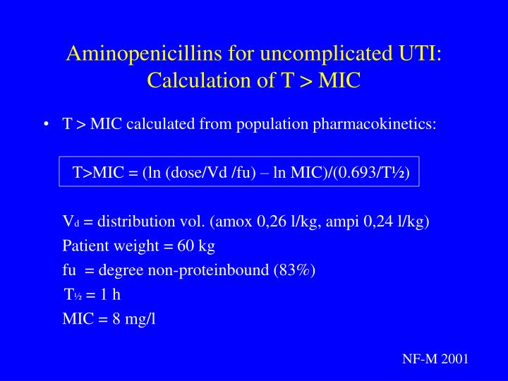 Aminopenicillins for uncomplicated UTI: