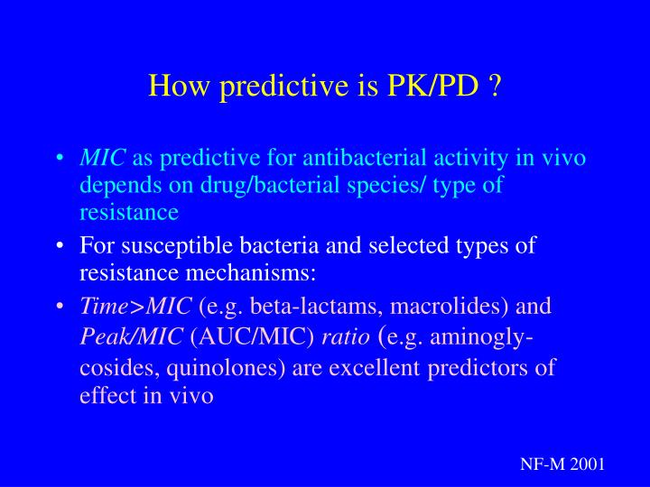 How predictive is PK/PD ?