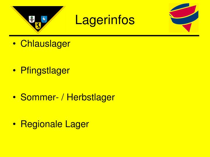 Lagerinfos