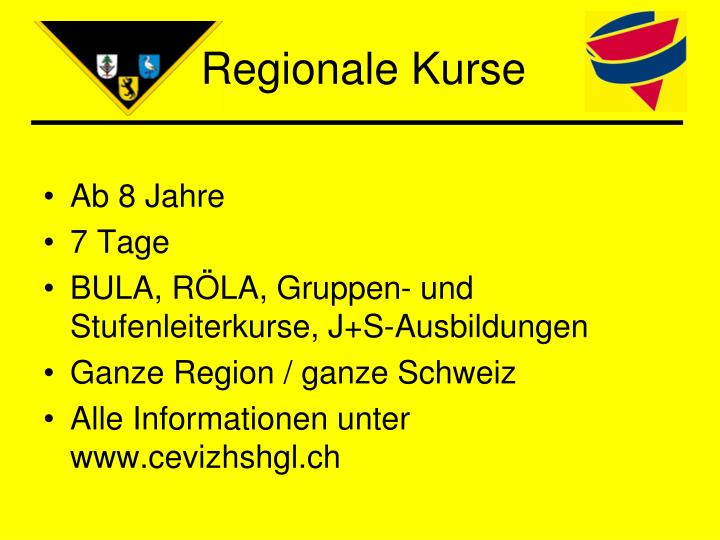 Regionale Kurse