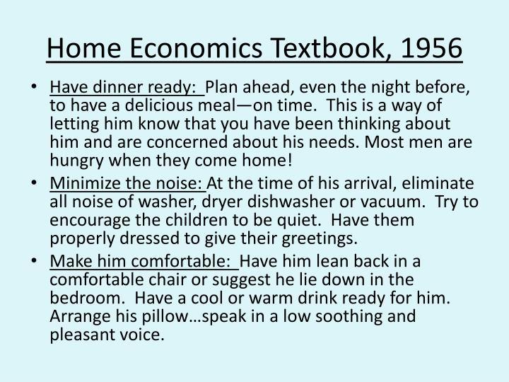 Home Economics Textbook, 1956