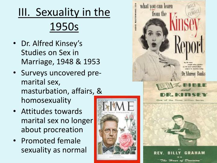 III.  Sexuality in the 1950s