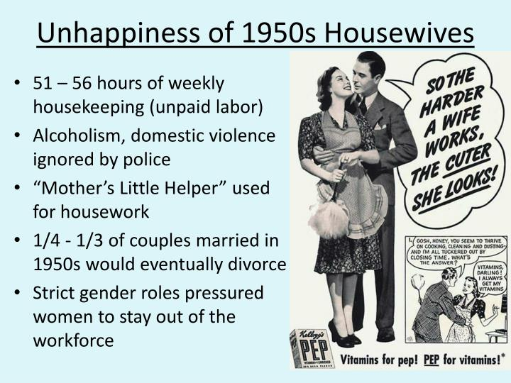 Unhappiness of 1950s Housewives