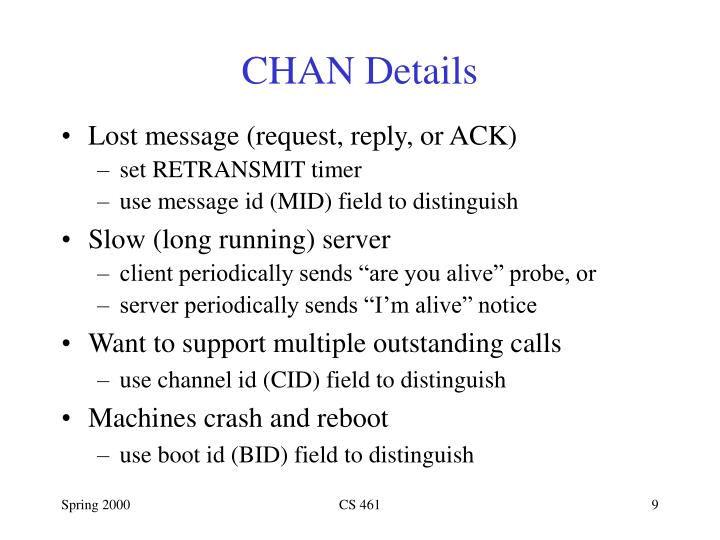 CHAN Details