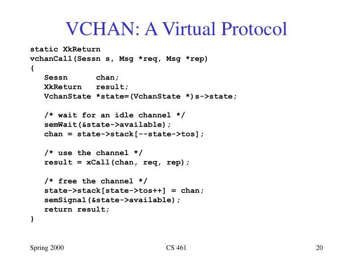 VCHAN: A Virtual Protocol