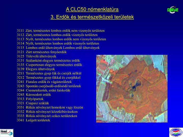 A CLC50 nómenklatúra