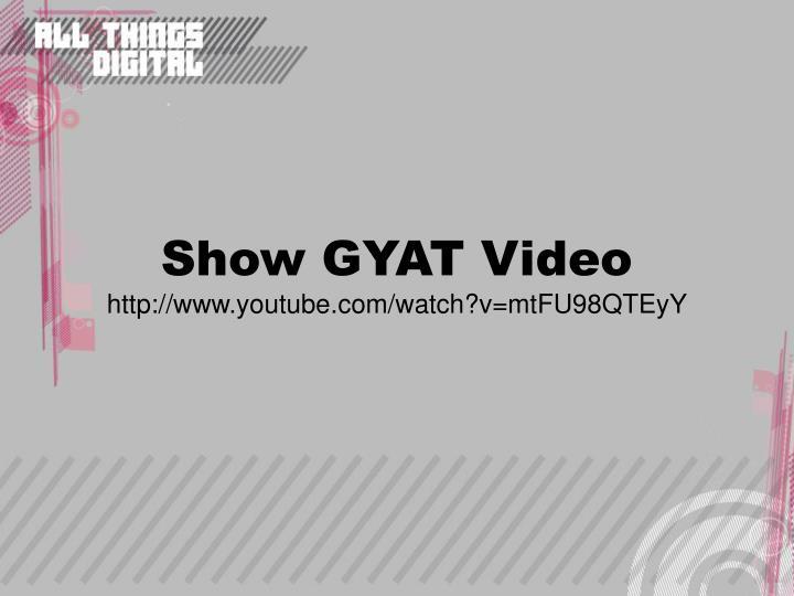 Show GYAT Video