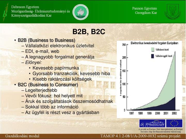 B2B, B2C