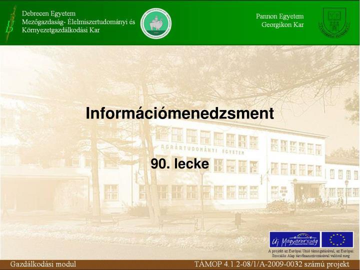 Információmenedzsment