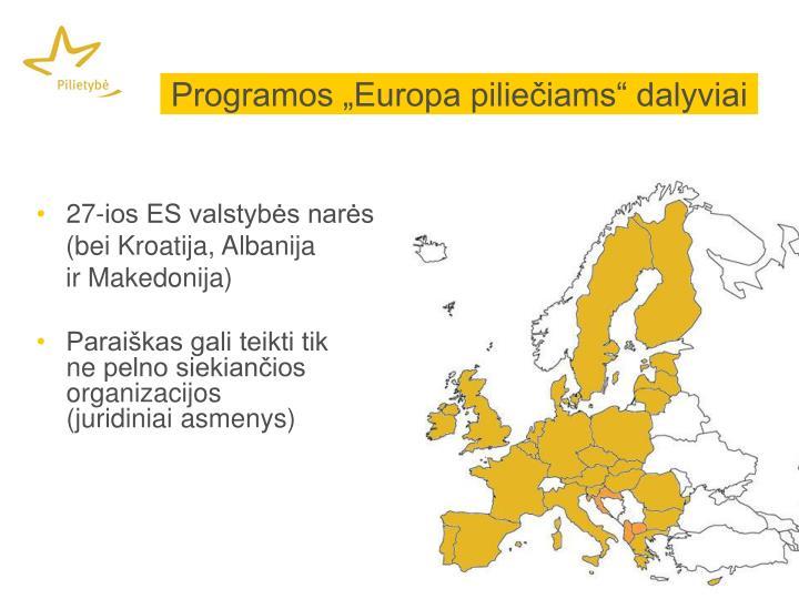 """Programos """"Europa piliečiams"""" dalyviai"""