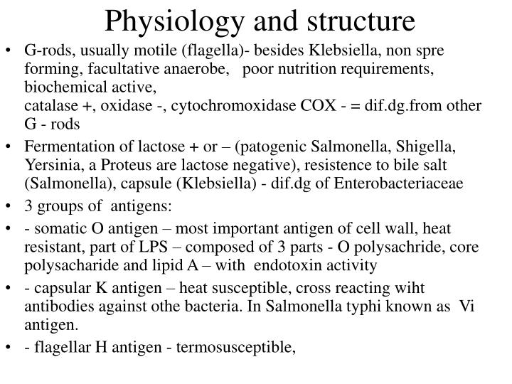 Physiology and structure