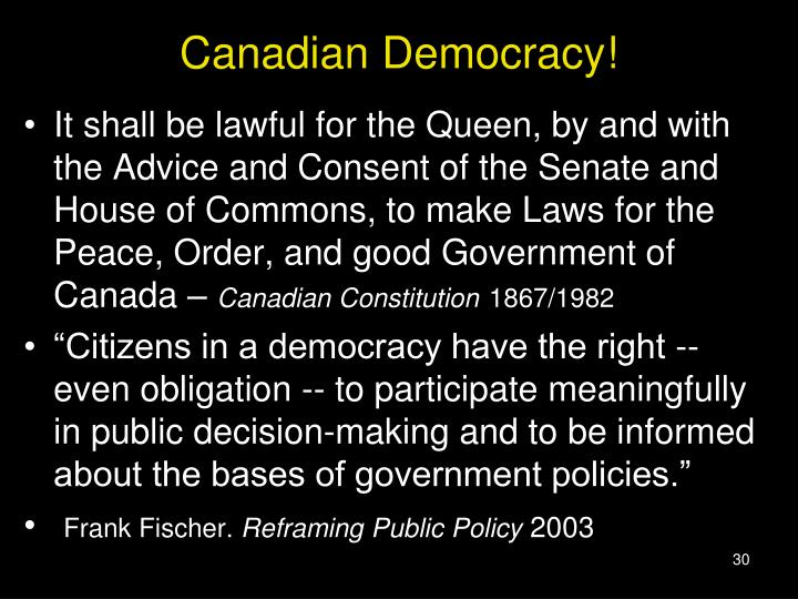 Canadian Democracy!