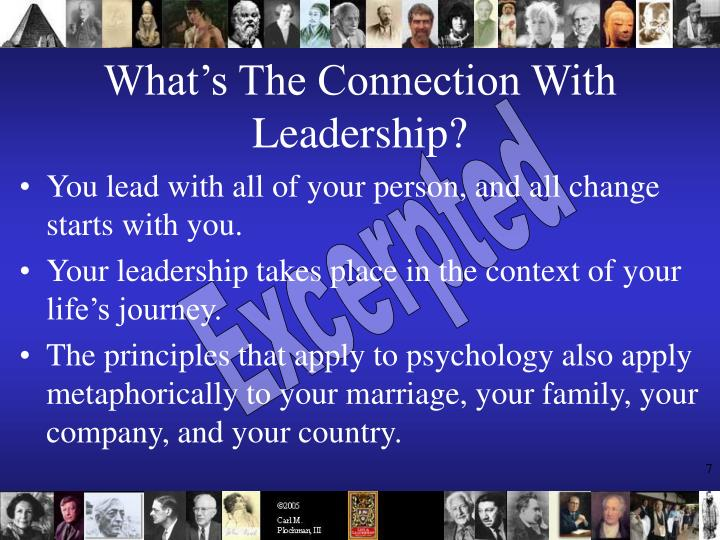 What's The Connection With Leadership?
