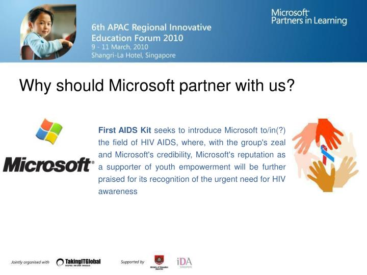 Why should Microsoft partner with us?
