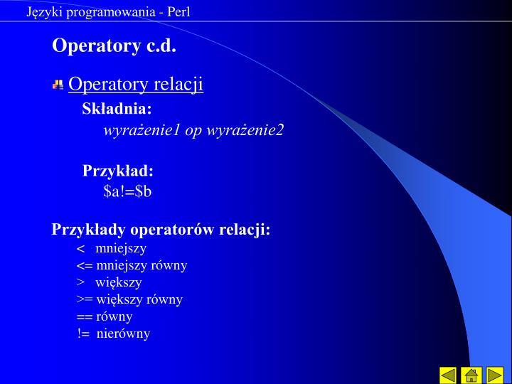 Języki programowania - Perl