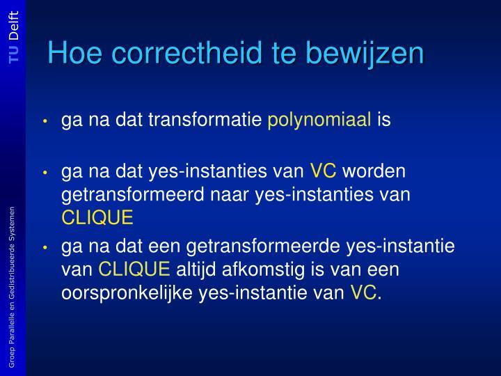 Hoe correctheid te bewijzen