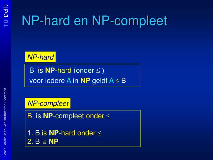 NP-hard en NP-compleet