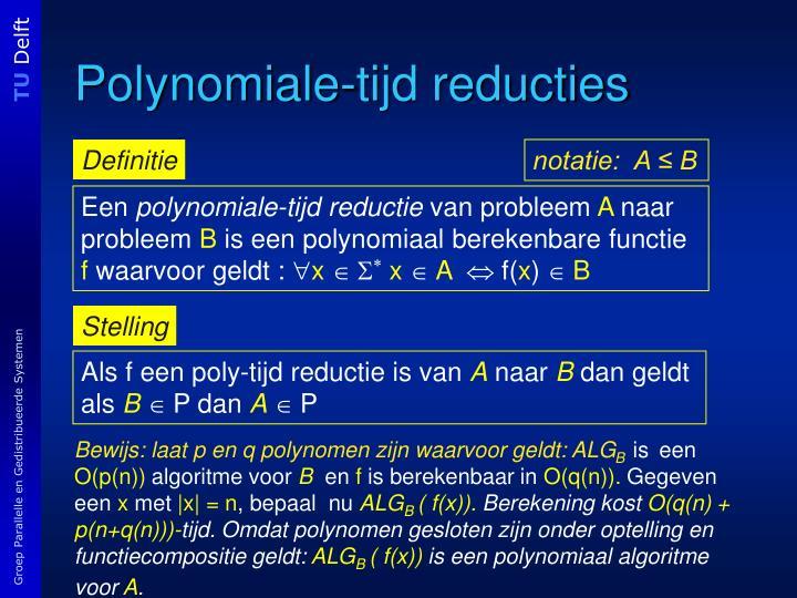 Polynomiale-tijd reducties