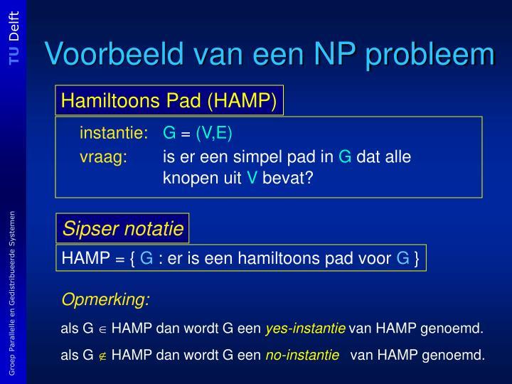 Voorbeeld van een NP probleem