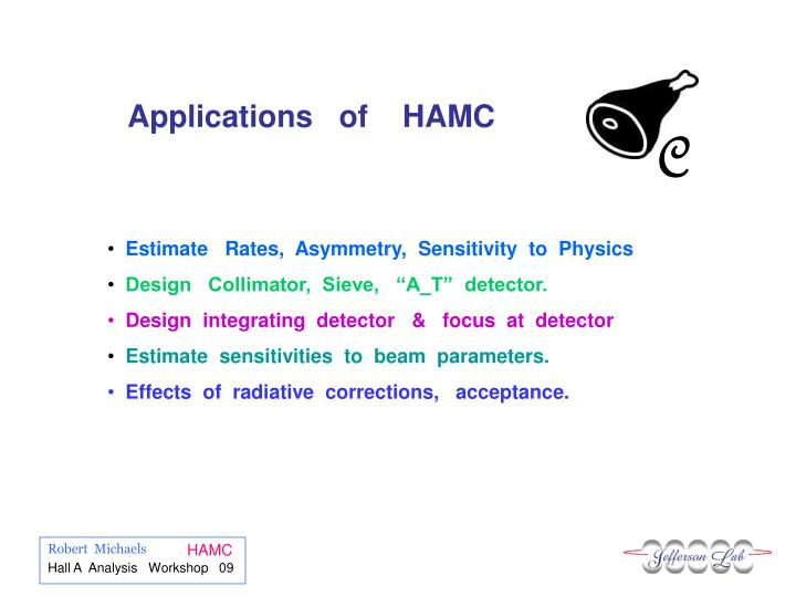 Applications   of    HAMC