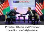 president obama and president hami karzai of afghanistan
