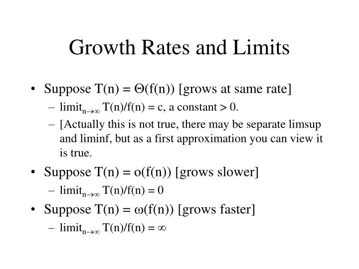 Growth Rates and Limits