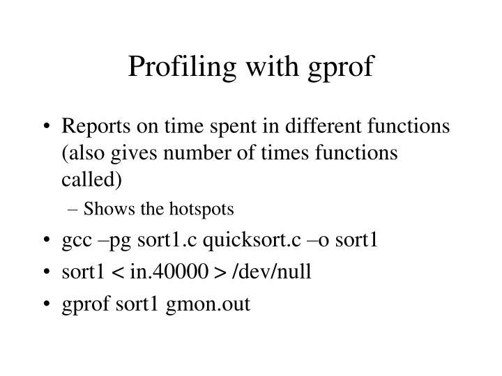 Profiling with gprof