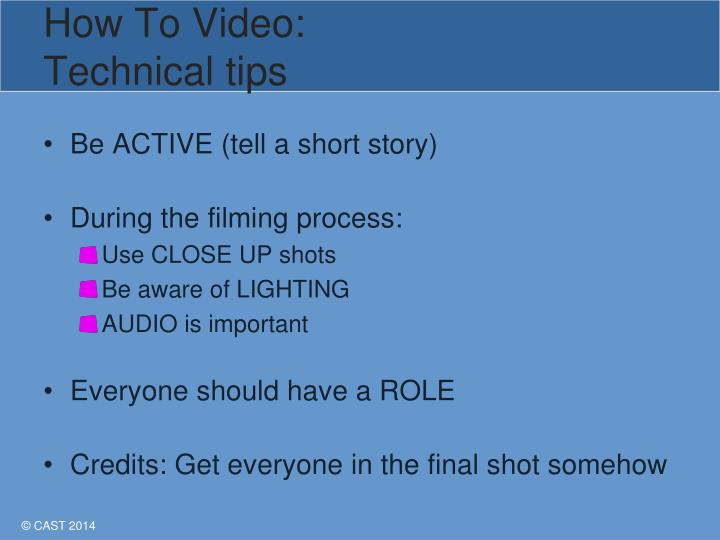 How To Video: