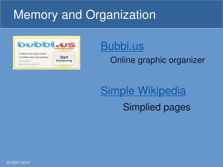 Memory and Organization